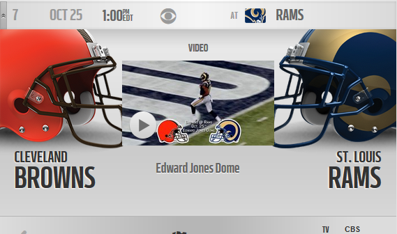 Browns at Rams October 25, 2015 1PM EST