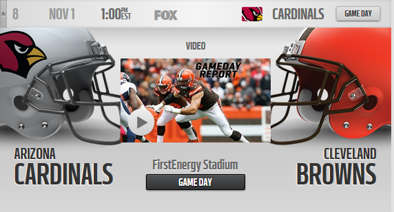 Browns vs Cardinals